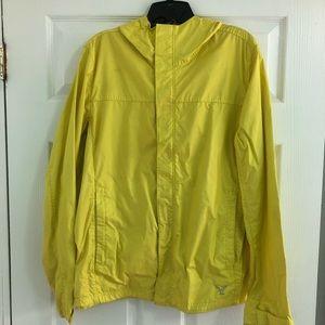 American Eagle AE Yellow Rain Jacket Coat